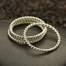 Sterling Silver Ring - Twisted Wire Ring