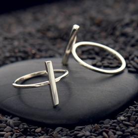 Sterling Silver Ring - Bar Ring