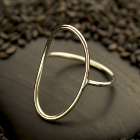 Sterling Silver Ring - Open Oval Ring