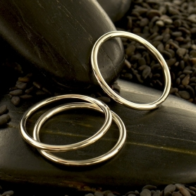 Sterling Silver Plain Round Stacking Ring DISCONTINUED