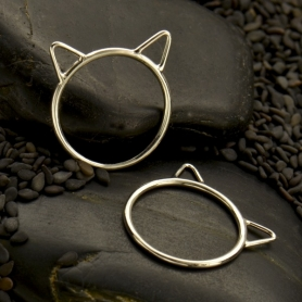 Sterling Silver Large Cat Ring
