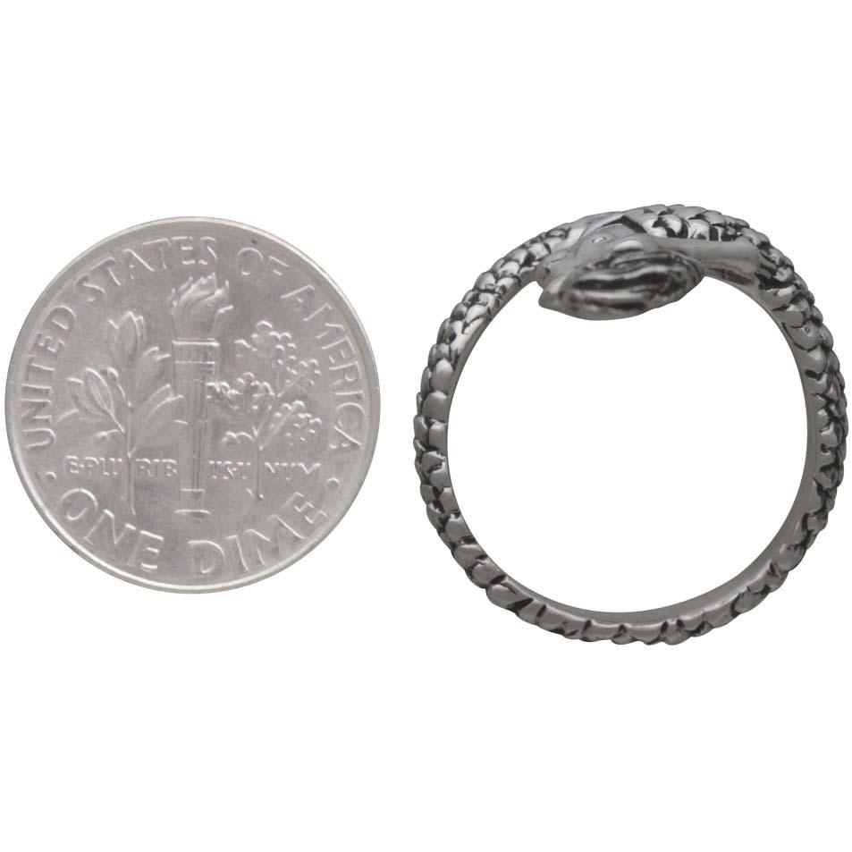 Sterling Silver Mermaid Ring - Adjustable Ring