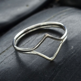 Sterling Silver Double Chevron Ring