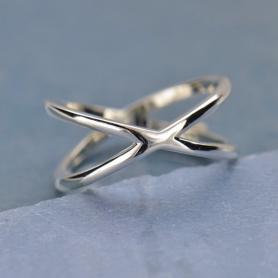 Sterling Silver Ring - Crisscross Ring