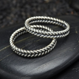 Sterling Silver Braided Stacking Ring