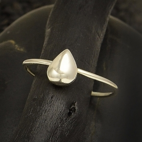 Sterling Silver Ring - Teardrop Stacking Ring