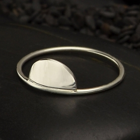 Sterling Silver Rings - Half Circle Stacking Ring
