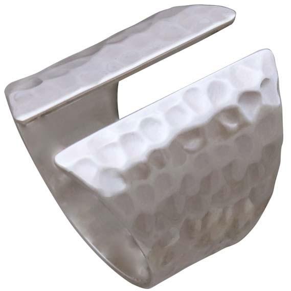 Sterling Silver Adjustable Hammered Shield Ring