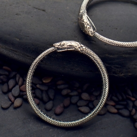 Sterling Silver - Ouroboros Snake Ring