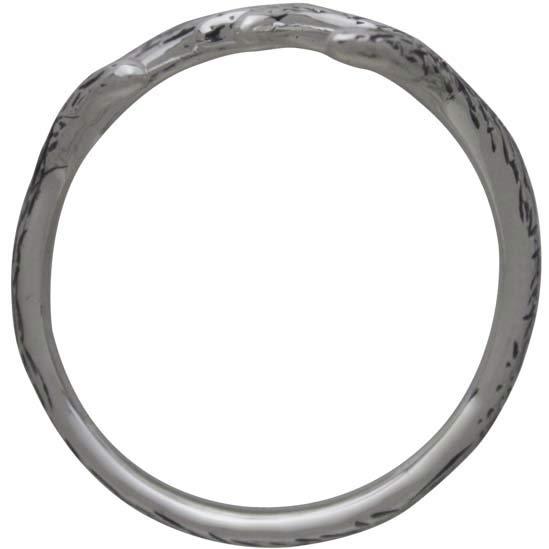 Sterling Silver Adjustable Antler Ring
