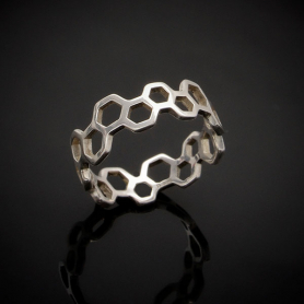Sterling Silver Honeycomb Band Ring