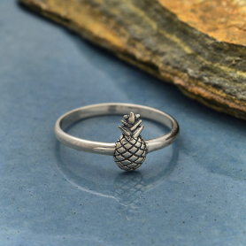 Sterling Silver Pineapple Ring