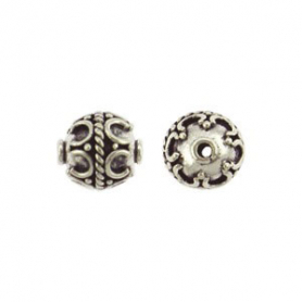 Sterling Silver Bead - Sm Wirework with Granulation
