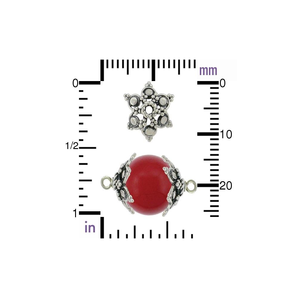 Sterling Silver Bead Cap - Filigree Flower Shape