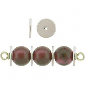 Sterling Silver Spacer Beads - Large Flat Spacer