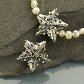 Sterling Silver Bead - Starfish with Granulation