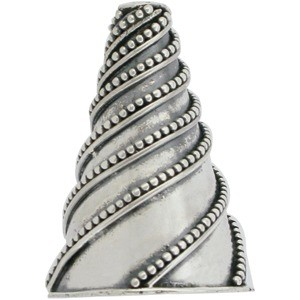 Silver Cone Cord End with Twisted Granulation Motif DISCONTI
