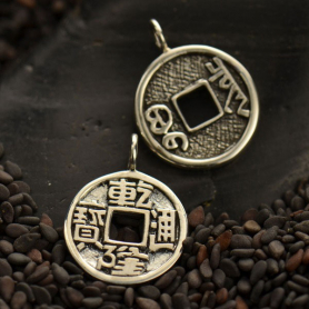 Sterling Silver Chinese Coin Charm DISCONTINUED