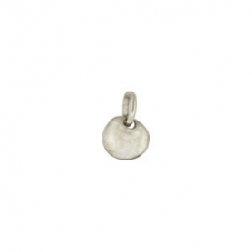 Tiny Sterling Silver Disc Dangle Charm 7x5mm