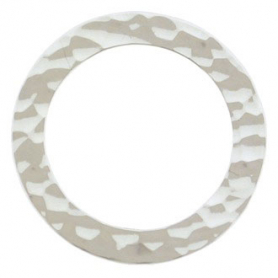 Jewelry Supply - Xlarge Hammered Circle Silver Link