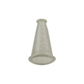 Sterling Silver Cone Cord End with Shiny Hammer Finish -Sm