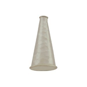 Sterling Silver Cone Cord End with Hammer Finish 18x11mm