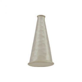 Sterling Silver Cone Cord End with Shiny Hammer Finish - Med