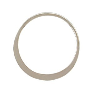 Sterling Silver Half Hammered Circle Jewelry Link 18mm