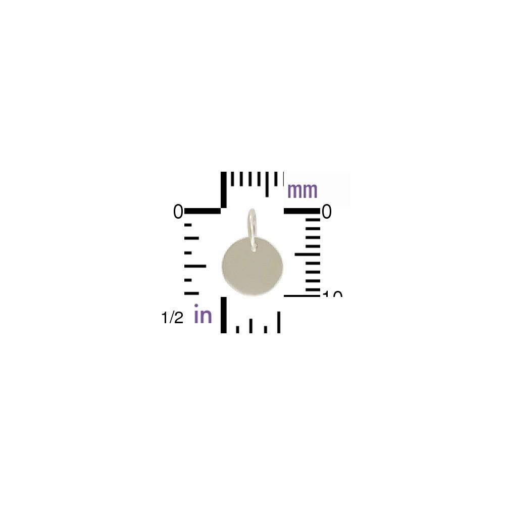 Sterling Silver Tiny Circle Charm 11x7mm