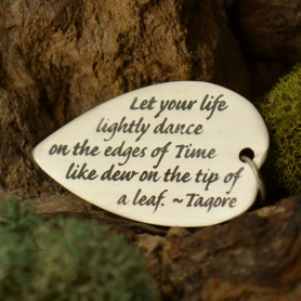 Sterling Silver Message Pendant - Tagore Quote