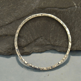 Jewelry Supplies - Hammered Circle Silver Links
