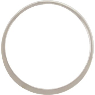 Sterling Silver Half Hammered Circle Jewelry Link 28mm