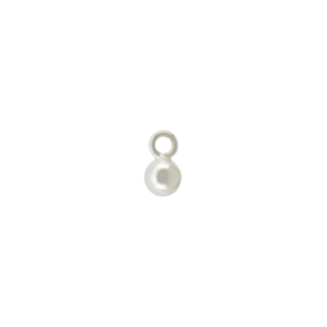 Sterling Silver Small Round Dangle Charm 5x3mm