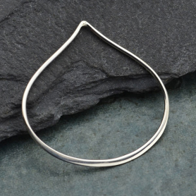 Jewelry Supplies - Medium Wide Teardrop Silver Links