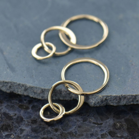 Sterling Silver Three Circles of Life Link 10x19mm