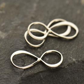 Jewelry Supplies - Medium Infinity Charm Silver Links