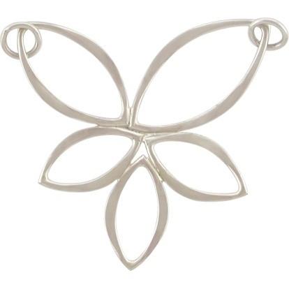 Jewelry Parts - Lotus Marquis Cluster Festoon Silver Pendant