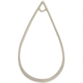 Jewelry Supplies - Teardrop with Loop Silver Links