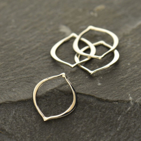 Jewelry Supplies - Small Arabesque Silver Links