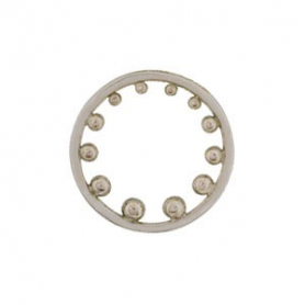 Jewelry Supplies - Circle with Granulation Silver Links