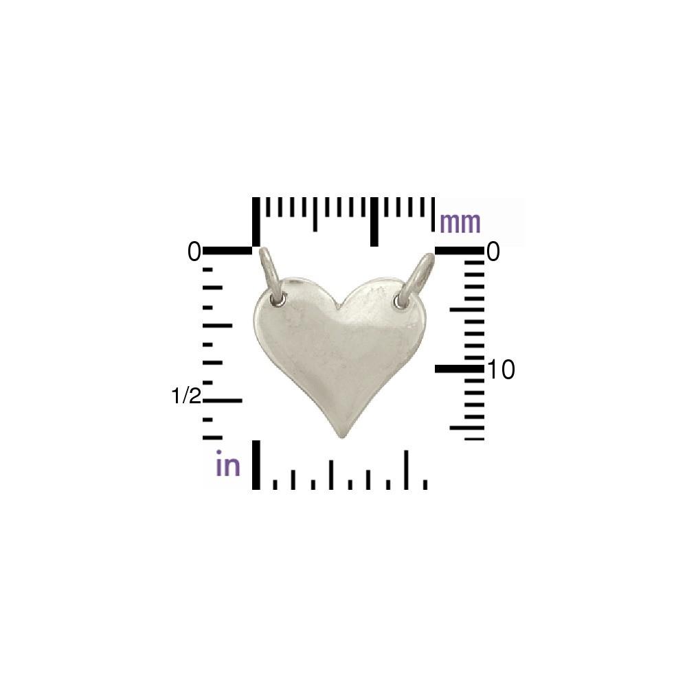 Jewelry Supplies - Medium Heart Festoon Pendant DISCONTINUED