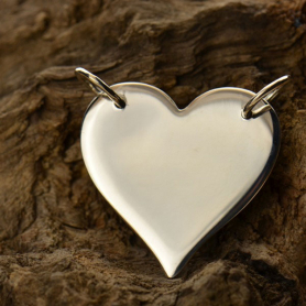 Jewelry Supplies - Medium Heart Festoon Pendant DISCONTINUED