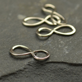 Jewelry Supplies - Small Infinity Charm Silver Links 5x13mm