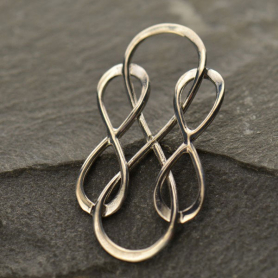 Jewelry Part - Triple Infinity Finding Silver Links 16x30mm