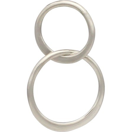 Sterling Silver Two Circles of Life Link 19x12mm