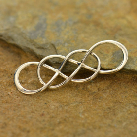 Jewelry Part - Intertwined Infinity Finding Silver Links