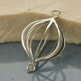 Jewelry Supplies - Caged Pendant Silver Links DISCONTINUED