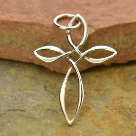Sterling Silver Cross Pendant - Celtic Style
