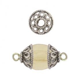 Sterling Silver Bead Cap - Balinese Filigree 7x3mm