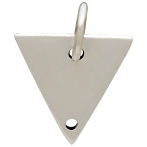 Sterling Silver Triangle Pendant with Two Holes 13x10mm